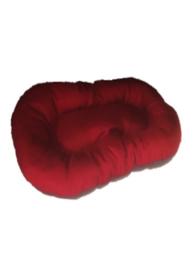 Luxe ligkussen ovaal Rood/Antraciet