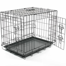Draadkooi/Bench Eco zwart