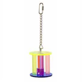 Acryl vogelspeelgoed - cilinder met dobbelsteen