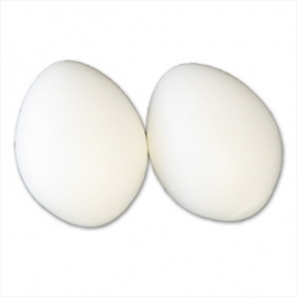 Kunstei kippen, 2 stuks