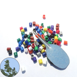 Kunststof vogelringen met hulpstuk 100 stuks | 3,0 mm