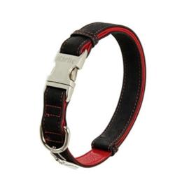 Karlie lederen halsband Buffalo Ultra zwart/rood, maat L