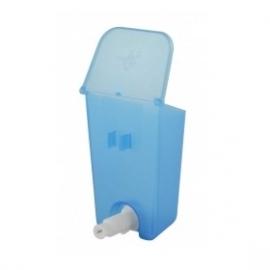 Vogelfles klepreservoir klik - nippel nieuwe stijl 130 ml blauw