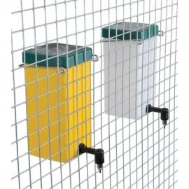 Drinkfles met klapdeksel 1,0 liter (naturel)