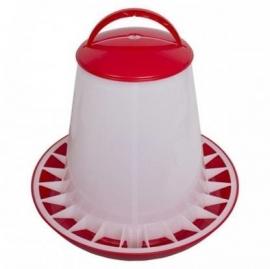 Kunststof voedersilo rood/wit