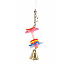 Acryl vogelspeelgoed - hangertje met bel