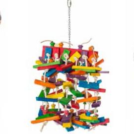 Vogelspeelgoed houten klossen XL