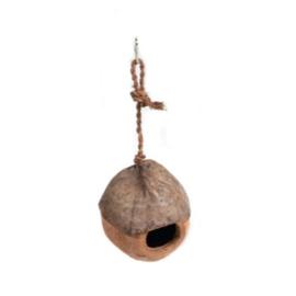 Kokosnoothuisje aan touw
