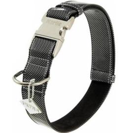 Karlie lederen halsband Buffalo Ultra black & white, maat XL