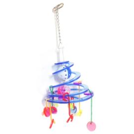 Acryl vogelspeelgoed - spiraal met hangertjes
