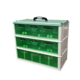 Italiaanse transportbox Porto Maxi 5-vaks met voerset (interne voerbakjes)