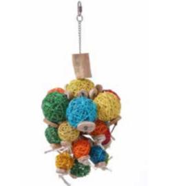Slinger met kleurrijke bollen