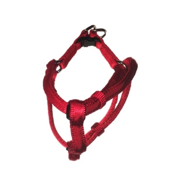 Soft nylon instaptuigje rood 26-38 cm