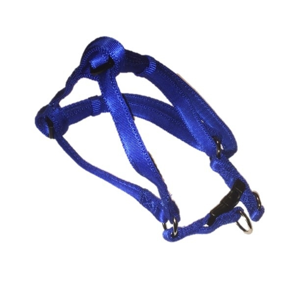 Soft nylon instaptuigje blauw 36-52 cm
