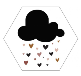 Muur hexagon - Lovely cloud