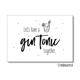 Ansichtkaart - have a gin tonic together