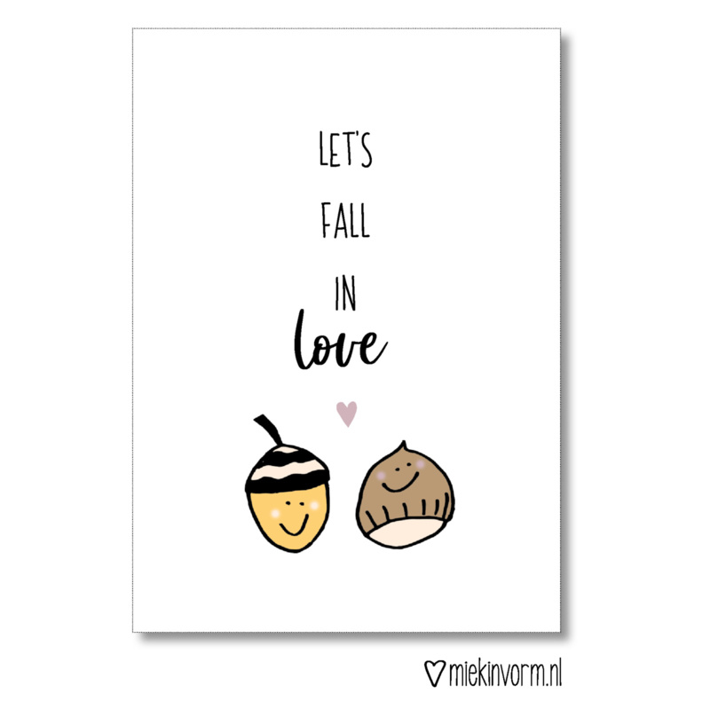 Ansichtkaart - Let's fall in love
