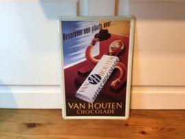 Van Houten reclamebord van blik