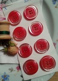 Kaart met rode knopen