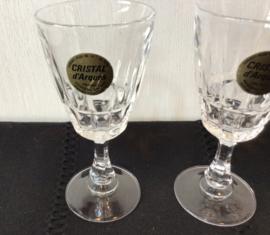 3 likeur glaasjes van Crystal D'Arques