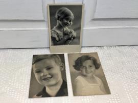 3 zwart-wit ansichtkaarten