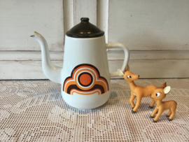 Retro emaille koffiepot
