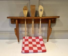 Oud houten lepelrek