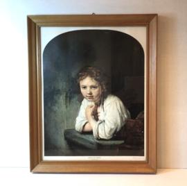 Rembrandt; meisje in het venster