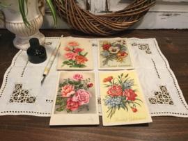 4 bloemen wenskaarten