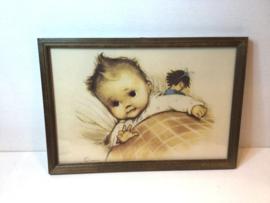 Schattige vintage babyprent