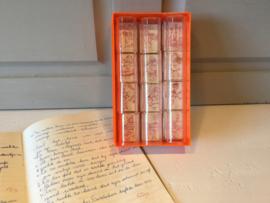 Vintage belonings stempels