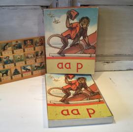 Leesplankje puzzel Aap