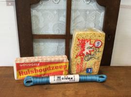 Waslijn, spons en zeep