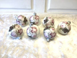 Romantische kerstballen