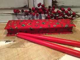 Stoffen kerstdoos