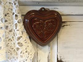 Aardewerk puddingvorm, hart