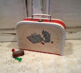 Vintage speelkoffertje