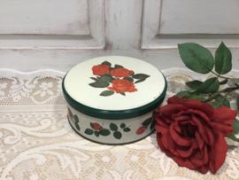 Koekjestrommel met rozen Tomado