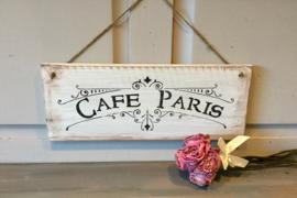 Cafe de Paris , houten tekstbord