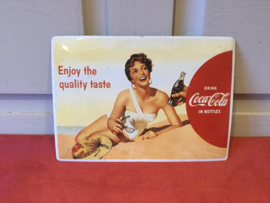 Coca Cola plaat van blik
