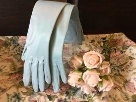 Blauwe vintage handschoentjes