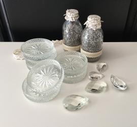 Glazen onderzetters