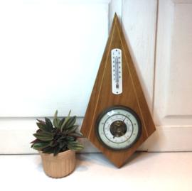Vintage barometer-thermometer