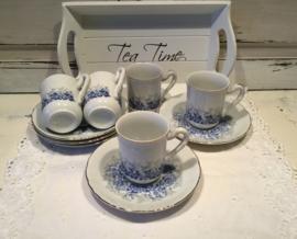 Porseleinen kopjes blauw decor
