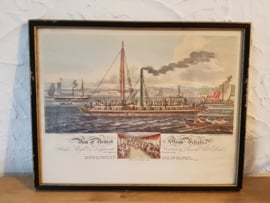 Aquatint Steam Vessels 1817