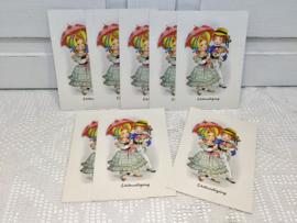 8 vintage uitnodigings kaarten