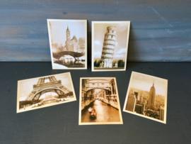 5 nostalgische kaarten (nieuw)