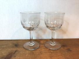 2 kristallen glaasjes