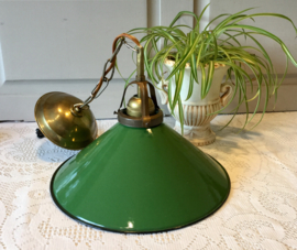 Groen emaille lamp