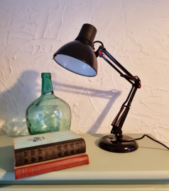 Vintage bureaulamp met knikarm
